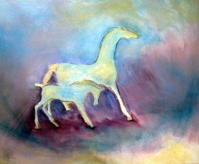 Impressionistic New Forest Ponies - 2012