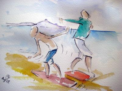 Skim Boarding...