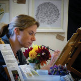 Painting at Devon Open Studios
