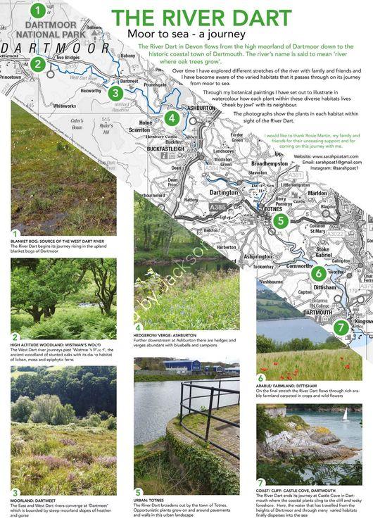 The River Dart map and habitat photos
