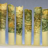 Porcelain Ammonite & shell vessels