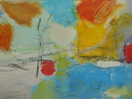 a kiss and a boat 50 x 100cm