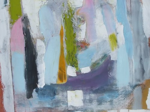 between a rock and a hard place 61 x 72cm sold