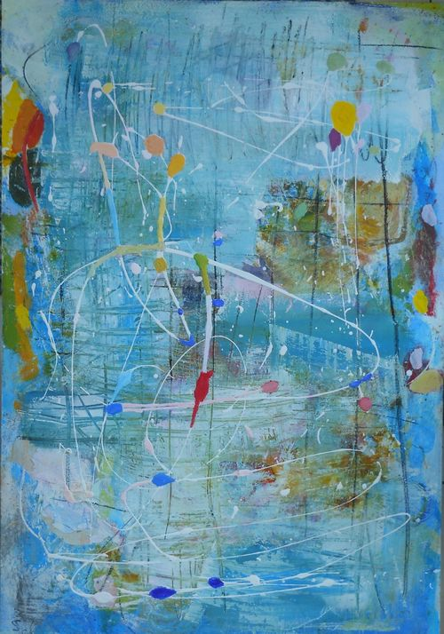 fearless, diving in 70 x 100cm POA