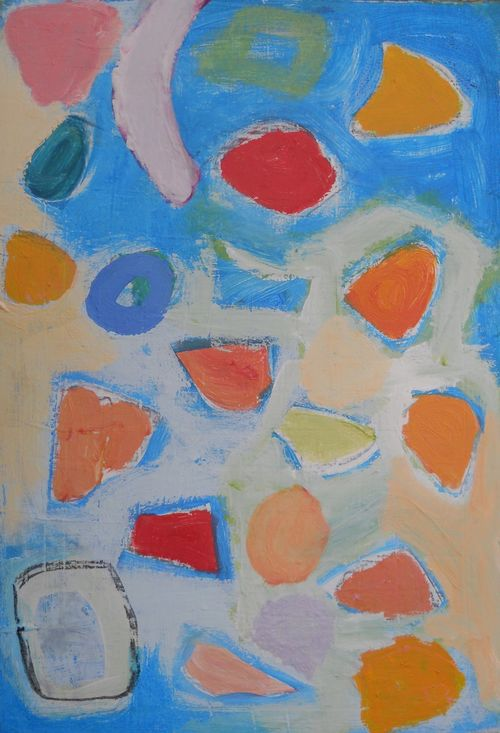 fruit salad on the beach 40 x 32cm