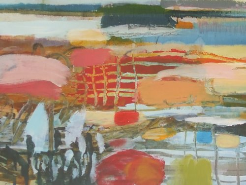recycled beach 30 x 50cm sold