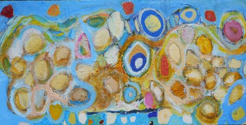 rocking and rolling on the beach 36 x 91cm