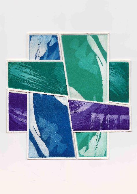 Criss Cross Blue & Green