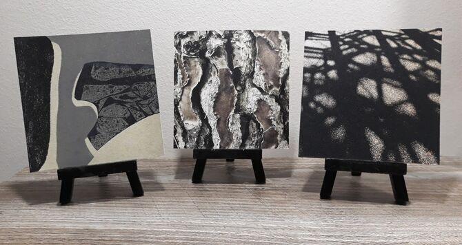 Leather Prints - Easel Display