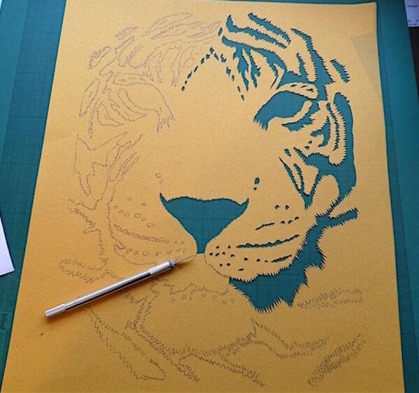 Tiger cutting