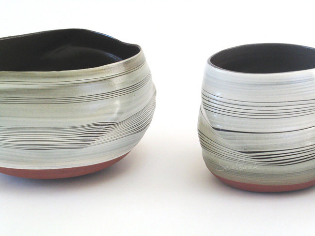 Distorted bowl and cylinder