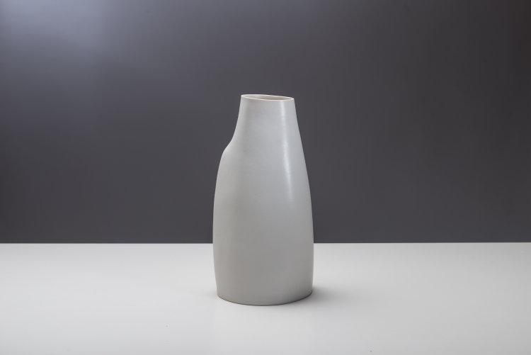 Camber Vessel - Pearlescent White Glaze