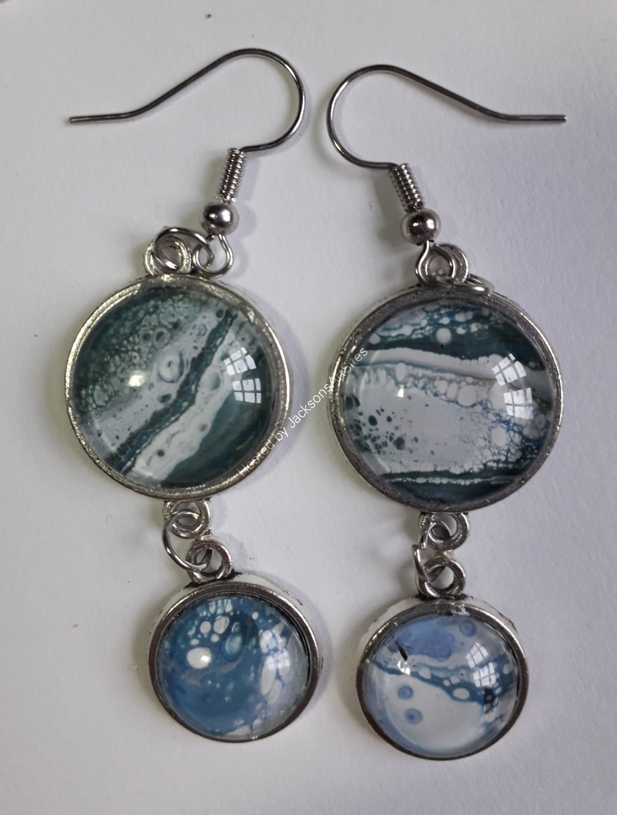 Blue Green Double earrings