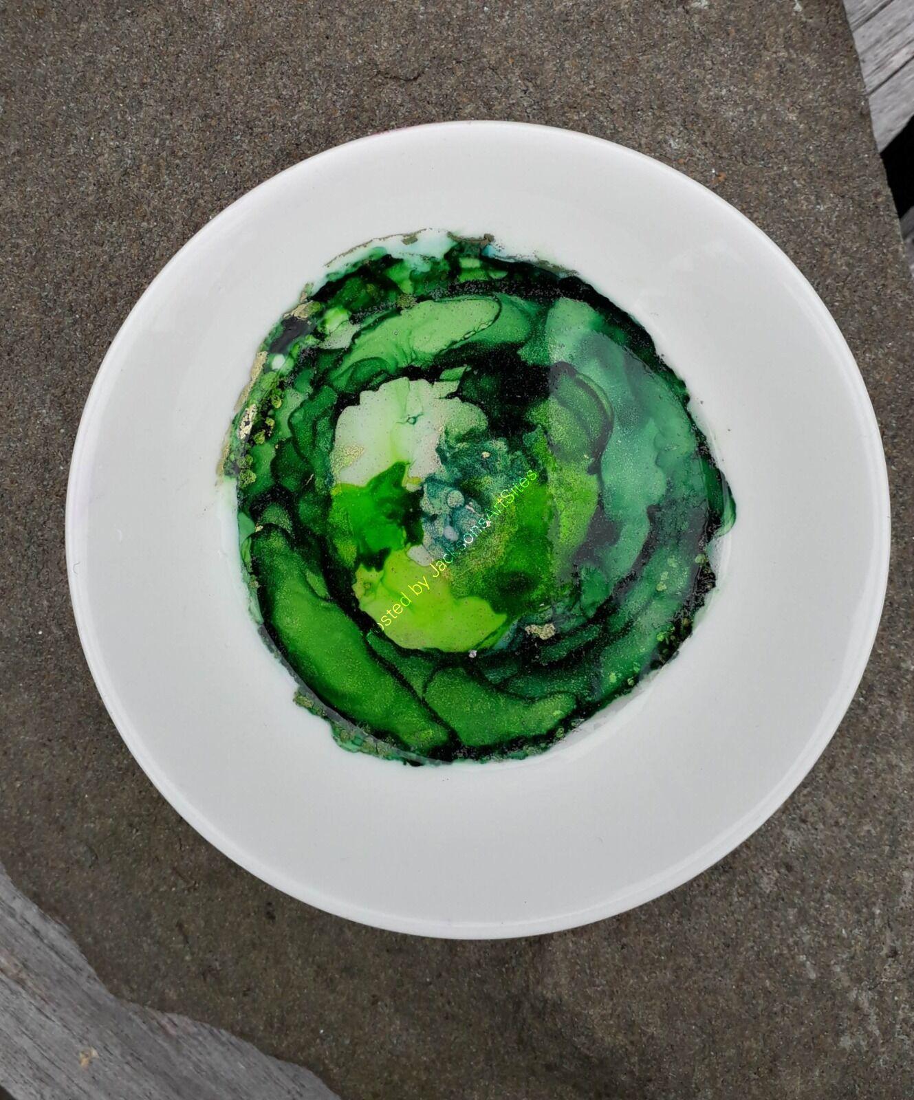 Green & Gold Trinket Dish