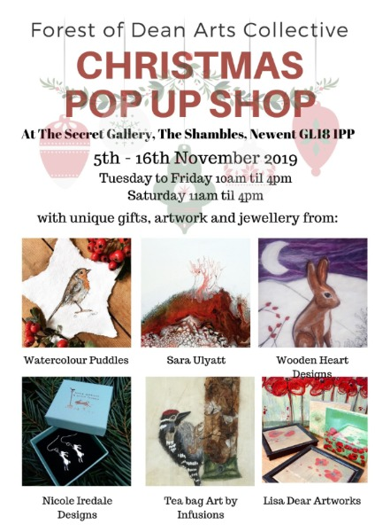 Christmas Pop Up Shop at The Secret Gallery, Newent