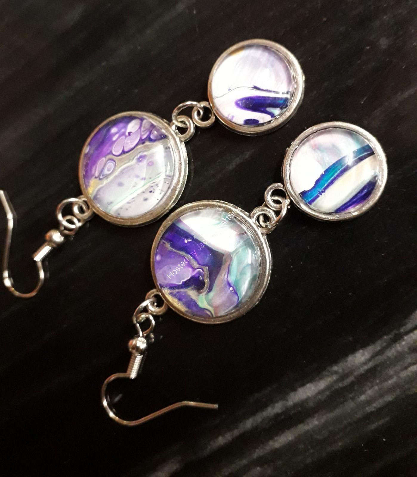 Purple Double Earrings