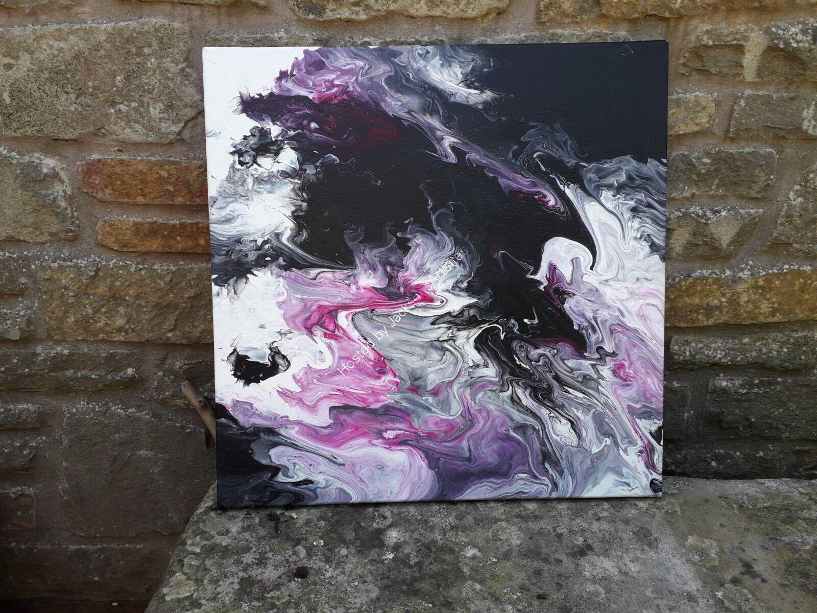 Purple smoke on stone seat