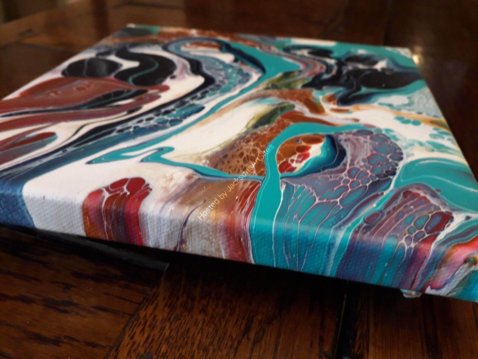 Turquoise swirls side