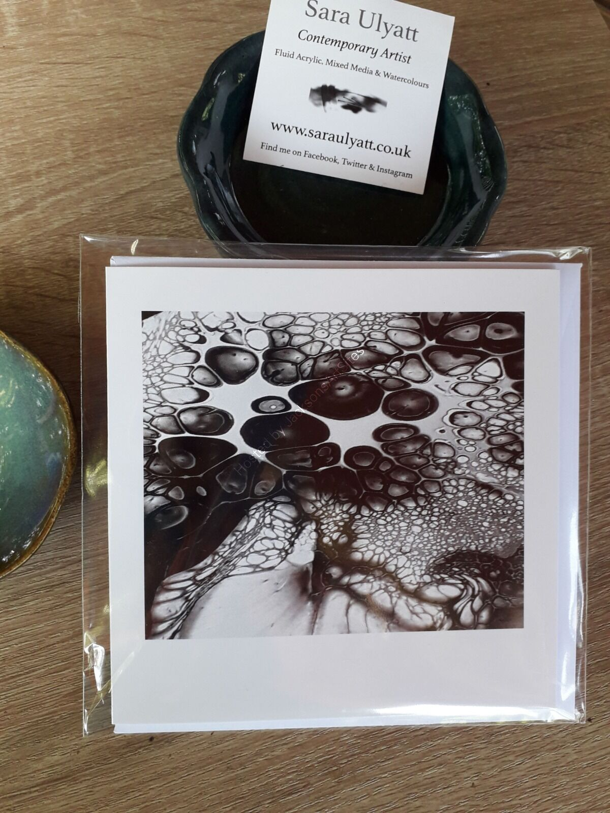 Black and White Bubbles Greeting Card