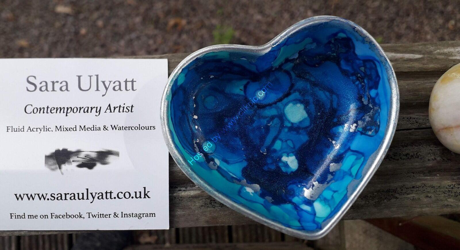 Blue Heart Shape Trinket Dish