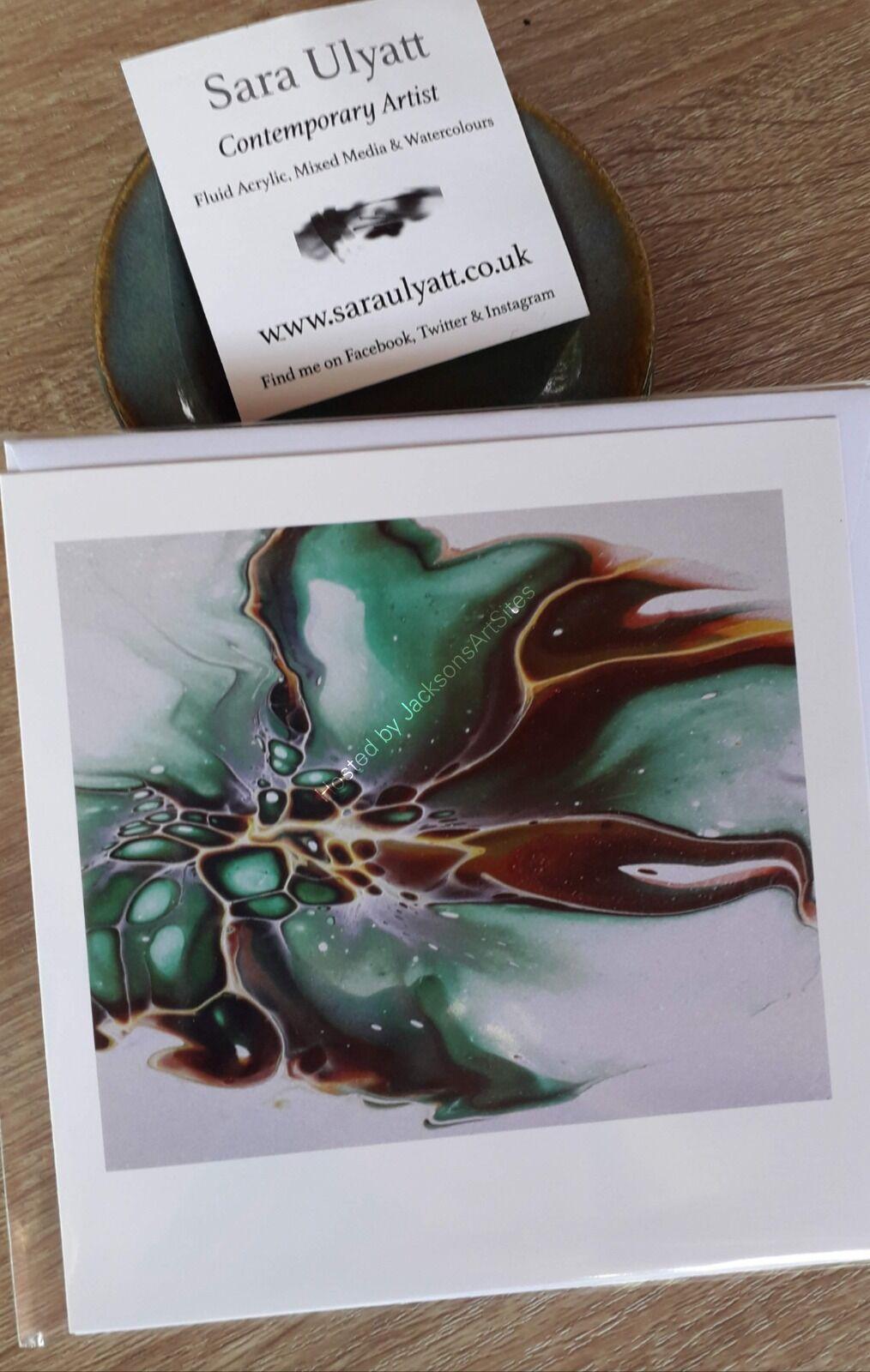 Green Bloom Greeting Card