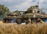 Sherman Tanks advancing