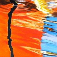 Stick reflections pastels