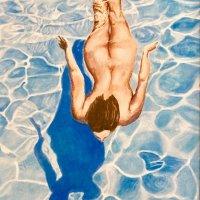 Freedom swim (acrylics)
