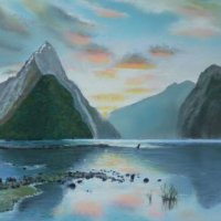Milford Sound NZ - pastels