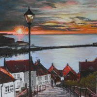 199 Steps Whitby - pastels