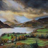 Ullswater, gathering storm - pastels