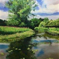 Erewash canal - pastels