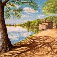 'Sunny day' - Newmillardam Acrylics on canvas board
