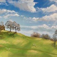 Yorkshire Pennine winter sun - pastels