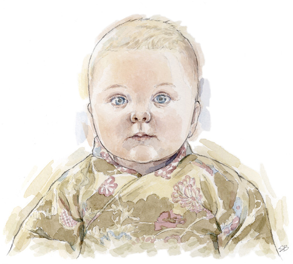 watercolour portrait_sally barton_babyportrait