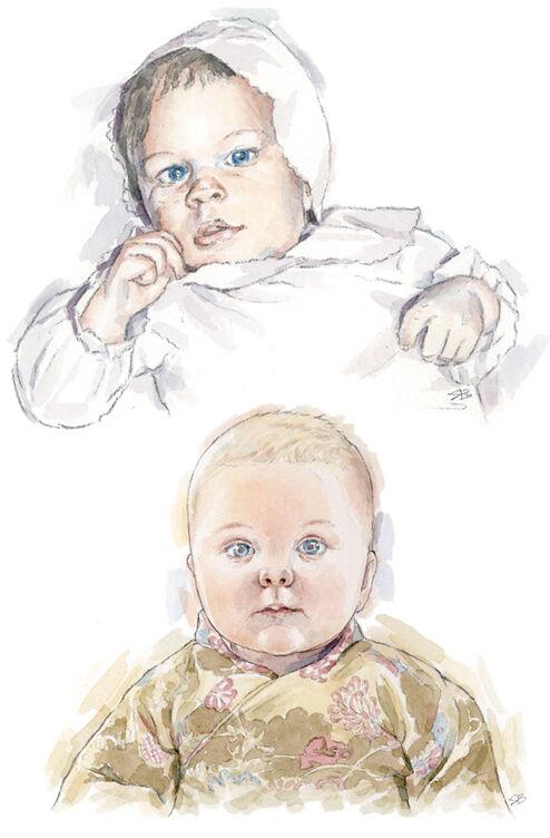 watercolour portrait_sally barton_babyportrait
