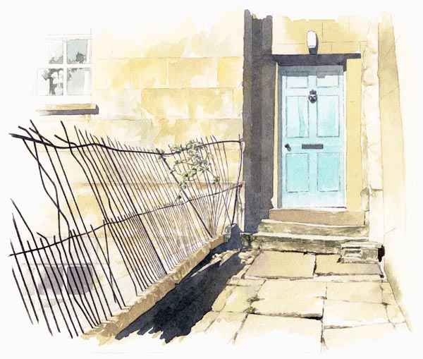 watercolour_architectural illustration_sally barton_StreetView