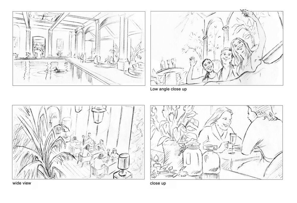 storyboards_sally barton_pencilroughs_Champneys