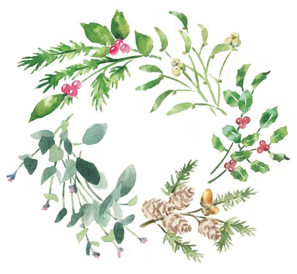 watercolour illustration_sally barton_Christmas_Waitrose
