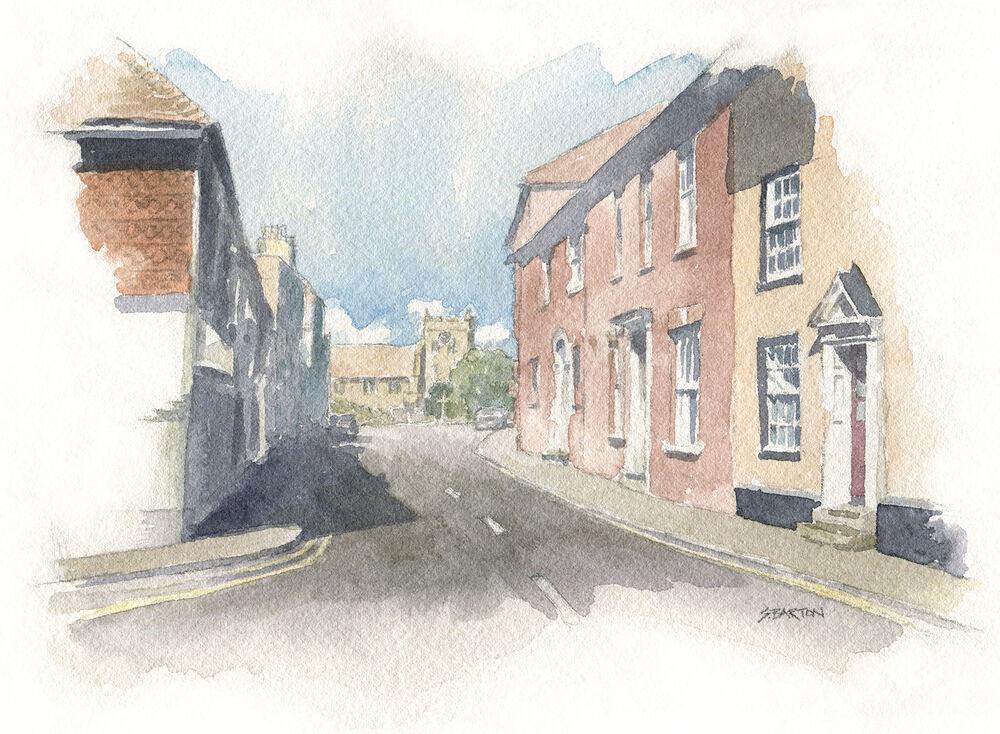 watercolour illustration_sally barton_Englishvillage