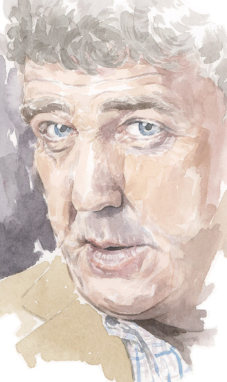 portrait_sally barton_JeremyClarkson_watercolour