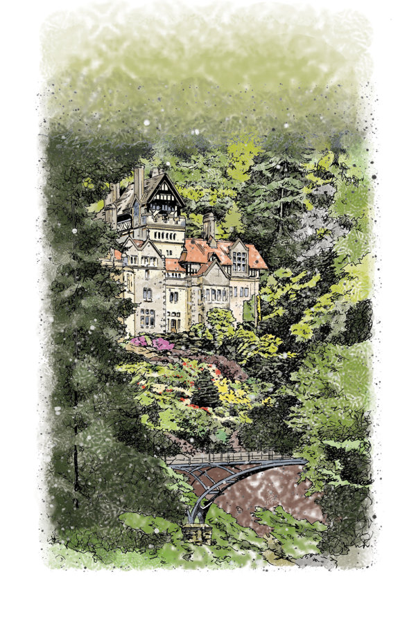 'Cragside' illustration for English Heritage