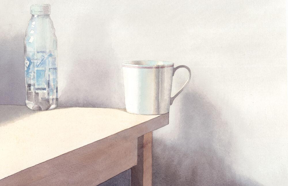 SallyBarton_Cup&bottle_watercolour_stilllife