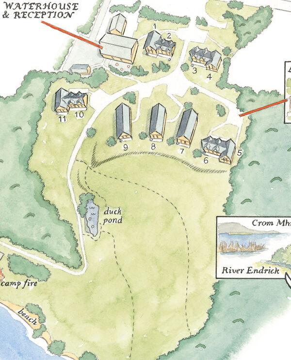 watercolour map_sally barton_WeddingVenue_Scotland