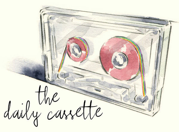 The Daily Cassette_Watercolour_SallyBarton_Music_Cassette
