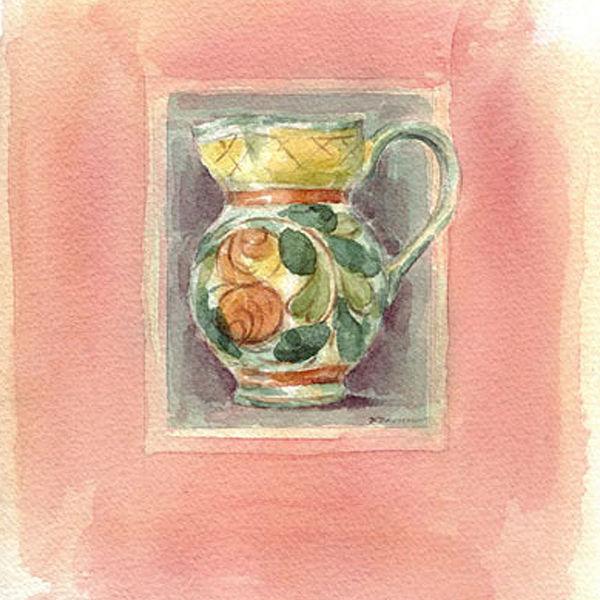 Watercolour_SallyBarton_ApricotJugII