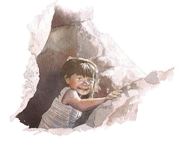 portrait in watercolour_sally barton