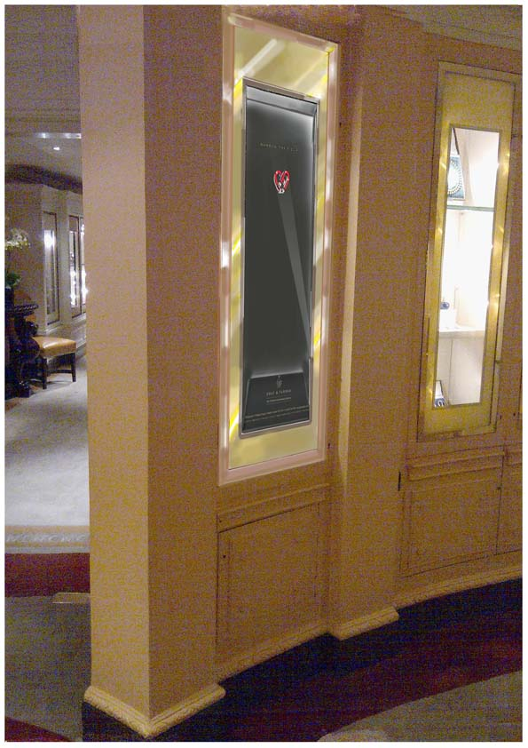 Hotel advertising installation visual 1