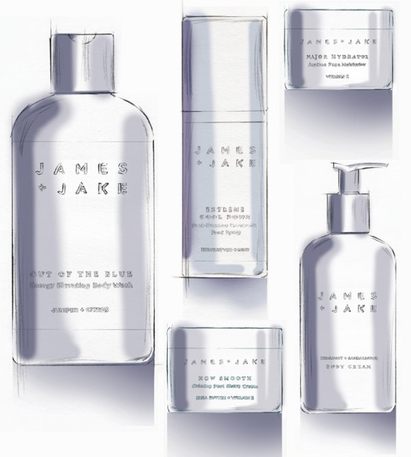 Product illustrations for 'James & Jake'