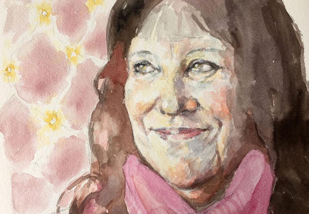 PortraitArtistoftheWeek_SkyArts_SallyBarton_watercolourportrait